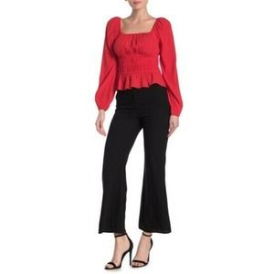 Elodie High Waisted Flare Pants NWT Small Black